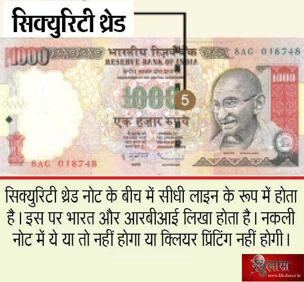 How to know 500 and 1000 Rs note is fake